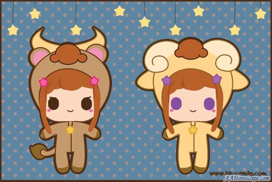AAHoroscope.com---Kawaii_Zodiac__Aries__Taurus_by_A_Little_Kitty