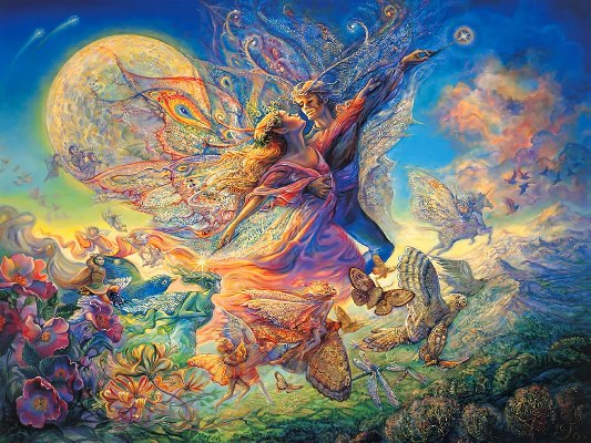 mystical_fantasy_paintings_kb_Wall_Josephine-Titania_and_Oberon_Two